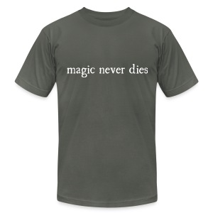Magic Never Dies White - Men's T-Shirt by American Apparel