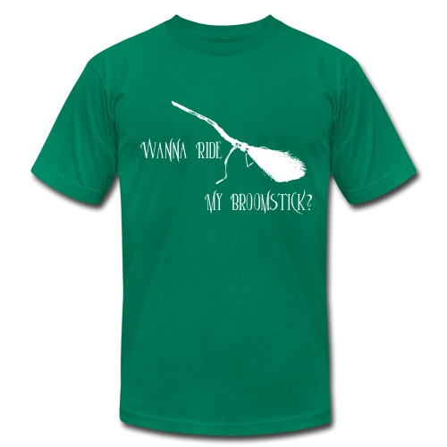 My Broomstick White Text - Men's T-Shirt by American Apparel