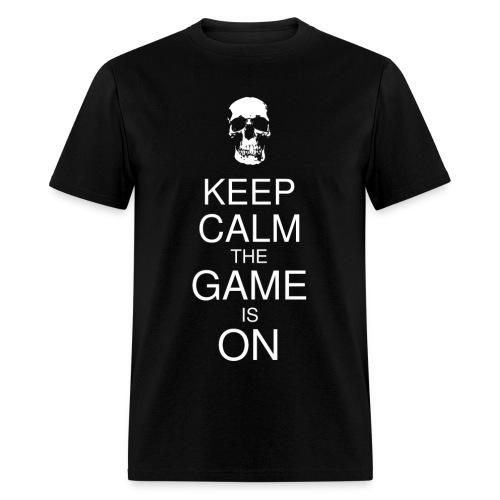 Keep Calm the Game is On (Skull) Men's - Men's T-Shirt