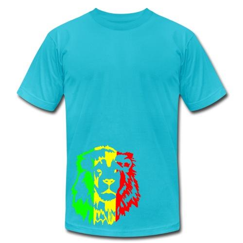 rasta lion - Men's Fine Jersey T-Shirt