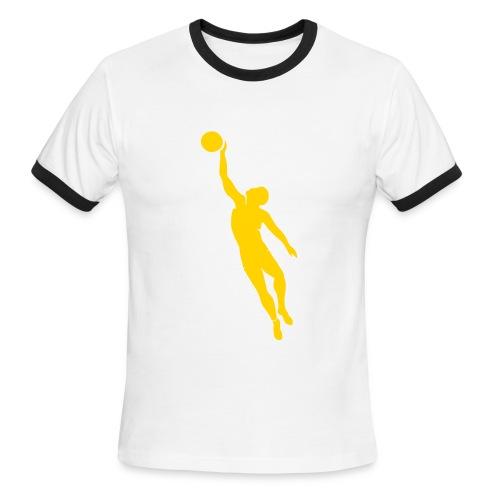 Basketball Tee in Brown - Men's Ringer T-Shirt