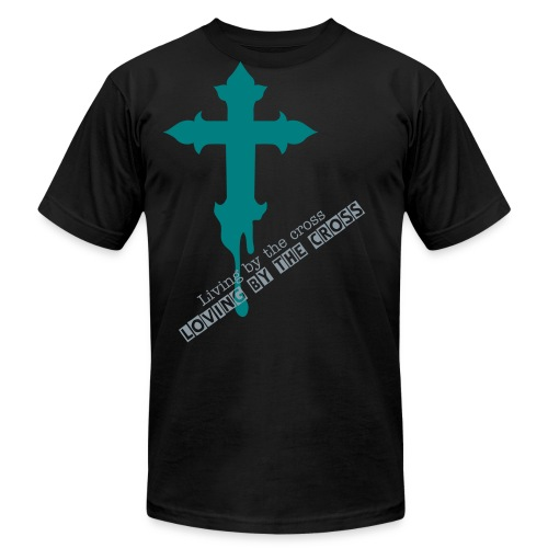 Loving by the cross - Men's  Jersey T-Shirt