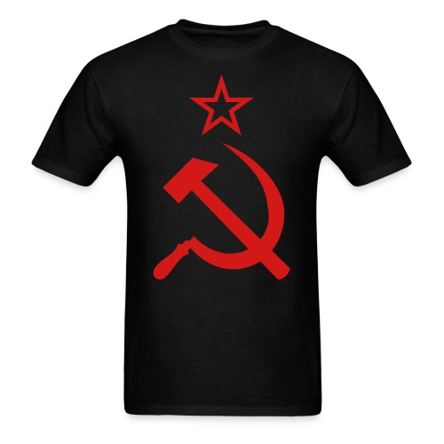 russian hammer and sickle  - Men's T-Shirt