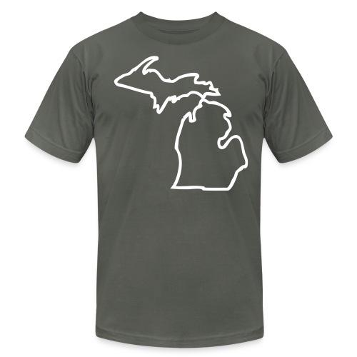 Michigan Outline - Men's Fine Jersey T-Shirt
