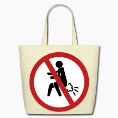 Funny NO Farting Thai Sign Bags