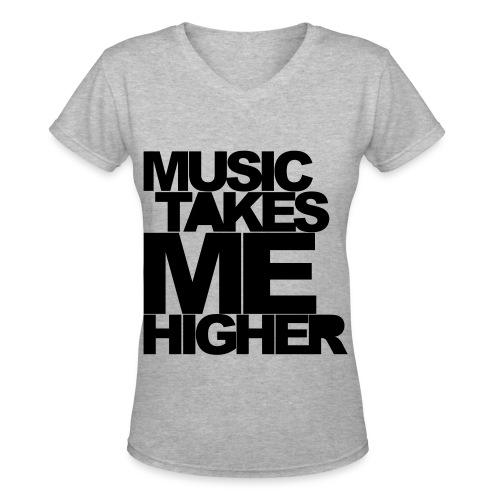 music vneck - Women's V-Neck T-Shirt