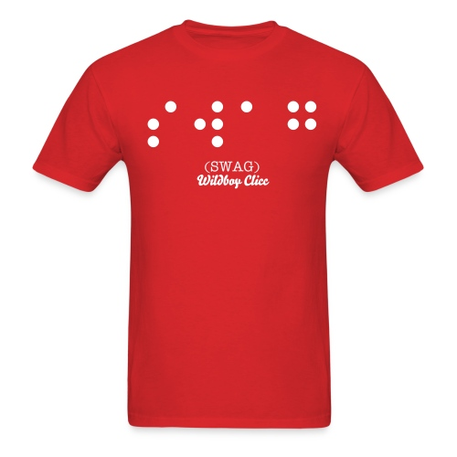 Braille Swag Red - Men's T-Shirt