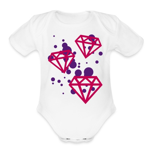 throwin' $$ - Organic Short Sleeve Baby Bodysuit