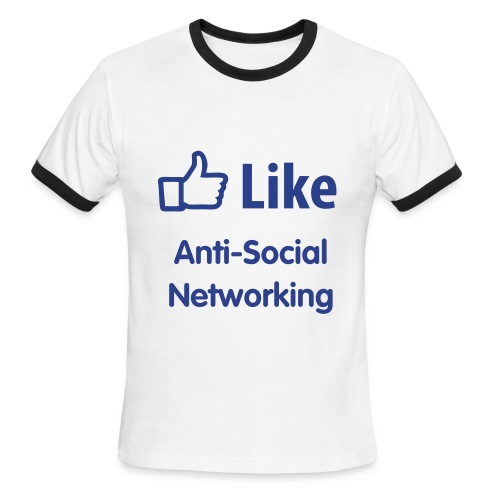Anti-Social Networking - Men's Ringer T-Shirt