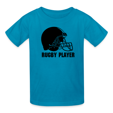 Football Rugby Helmet 02 Kids' Shirts
