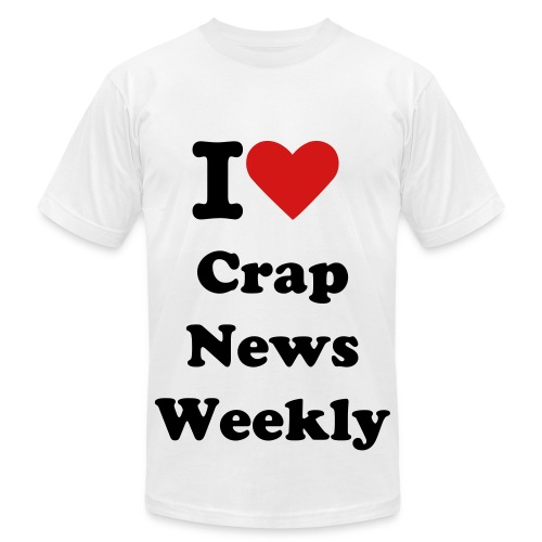 I heart Crap News Weekly - Men's Fine Jersey T-Shirt
