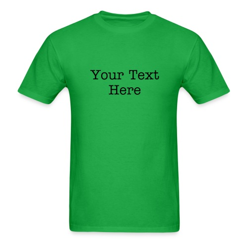 Custom Text Standardweight Tee - Men's T-Shirt