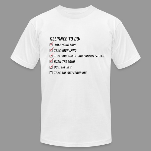 Take the Sky Black Text - Men's Fine Jersey T-Shirt