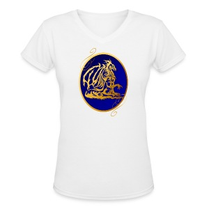 Gold Dragon 2  - Women's V-Neck T-Shirt