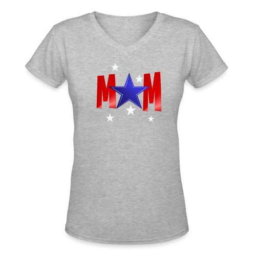 A Blue Star Mom - Women's V-Neck T-Shirt