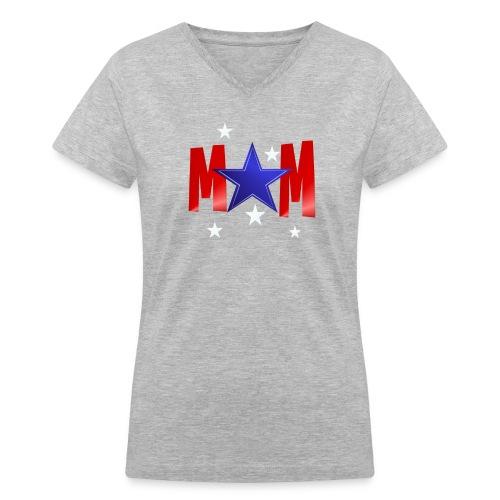 A Blue Star Mom - Women's V-Neck T-Shirt