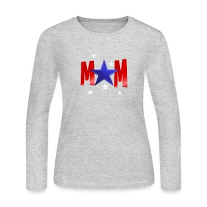 A Blue Star Mom - Women's Long Sleeve Jersey T-Shirt