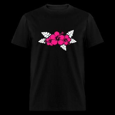 Hawaiian flower floral design t shirts t shirt spreadshirt for Hawaiian design t shirts