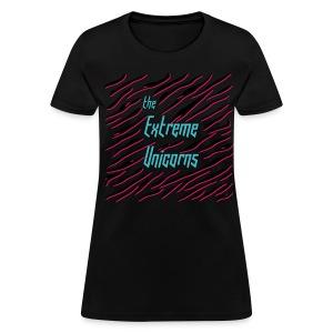 women's black Extreme zebra print tee - Women's T-Shirt