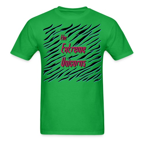men's green Extreme zebra shirt - Men's T-Shirt