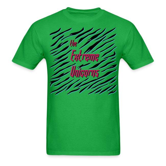 men's green Extreme zebra shirt