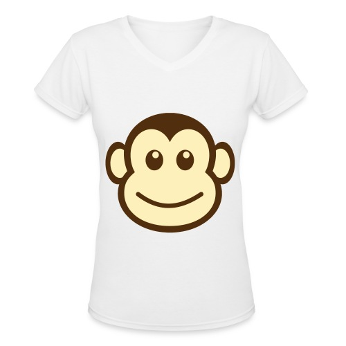 Monkey - Women's V-Neck T-Shirt