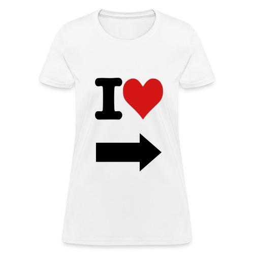 I Love Left Arrow - Women's T-Shirt