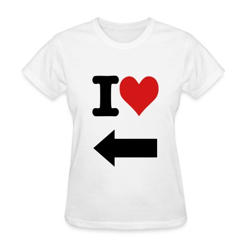 I Love right arrow - Women's T-Shirt