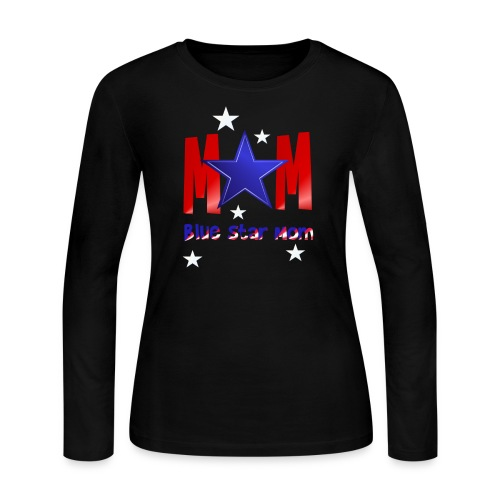 Blue Star Mom-Lettered - Women's Long Sleeve Jersey T-Shirt