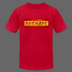Detroit Spanish Flag - Men's T-Shirt by American Apparel
