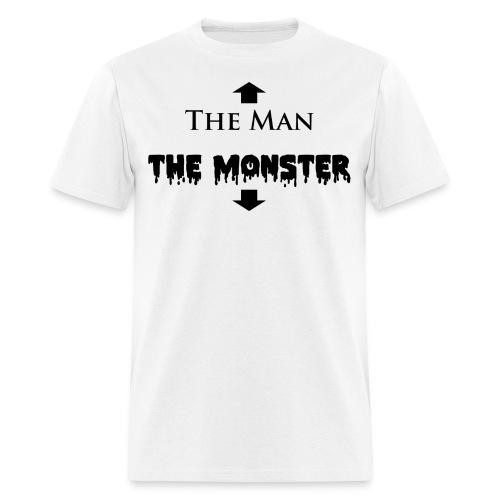 The Man and The Monster Black White - Men's T-Shirt