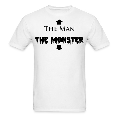 The Man and The Monster Black White - Men's T-Shirt