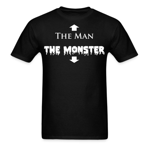 The Man and The Monster Black - Men's T-Shirt