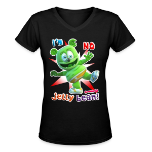 Gummibär (The Gummy Bear) I'm No Jelly Bean Ladies V-Neck Shirt - Women's V-Neck T-Shirt