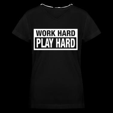 Work Hard Play Hard Women's T-Shirts - stayflyclothing.com