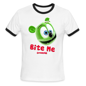 Gummibär (The Gummy Bear) Bite Me Men's Ringer T-Shirt - Men's Ringer T-Shirt