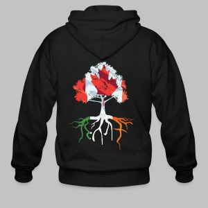 Canada Irish Rooted - Men's Zip Hoodie
