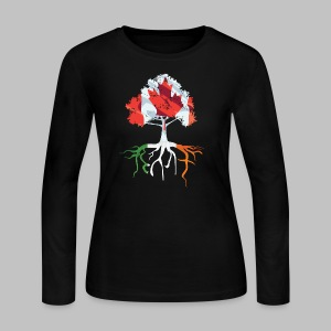 Canada Irish Rooted - Women's Long Sleeve Jersey T-Shirt