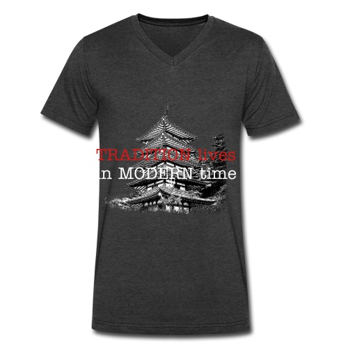 tradition in moder time:asia - Men's V-Neck T-Shirt by Canvas