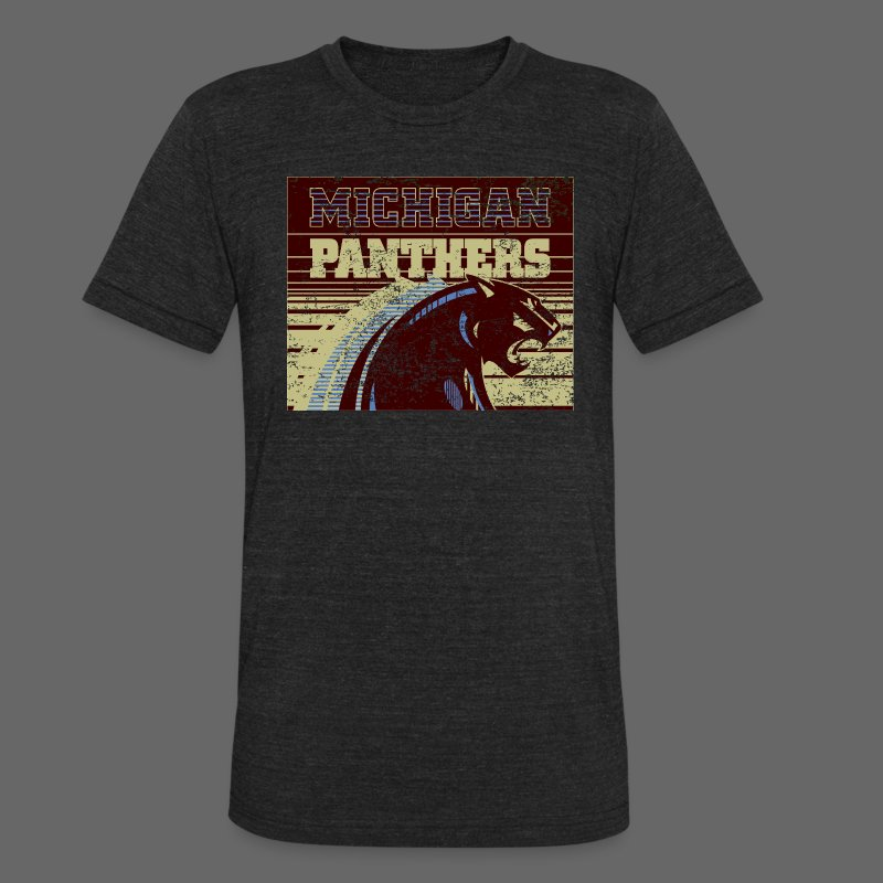 Michigan Panthers - Unisex Tri-Blend T-Shirt by American Apparel