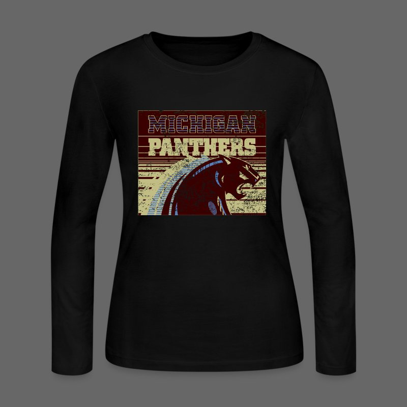 Michigan Panthers - Women's Long Sleeve Jersey T-Shirt