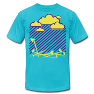 T-Shirts ~ Men's T-Shirt by American Apparel ~ Rain On these....002