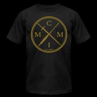T-Shirts ~ Men's T-Shirt by American Apparel ~ Pen X Sword GOLD
