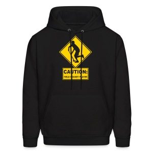 Caution: Field Hockey Player Men's Hoodie - Men's Hoodie