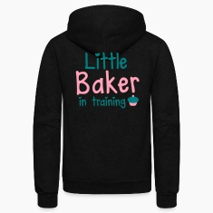 little baker in training with a cute cupcake Zip Hoodies/Jackets