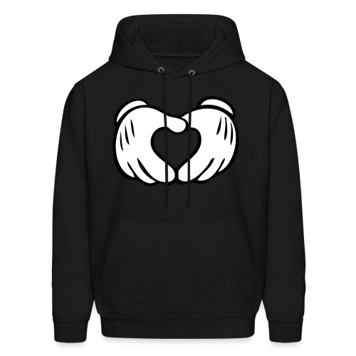 Mickey Mouse Heart Hoodie - Men's Hoodie