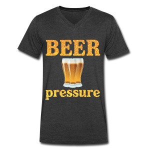 Beer Pressure T-Shirt - Men's V-Neck T-Shirt by Canvas