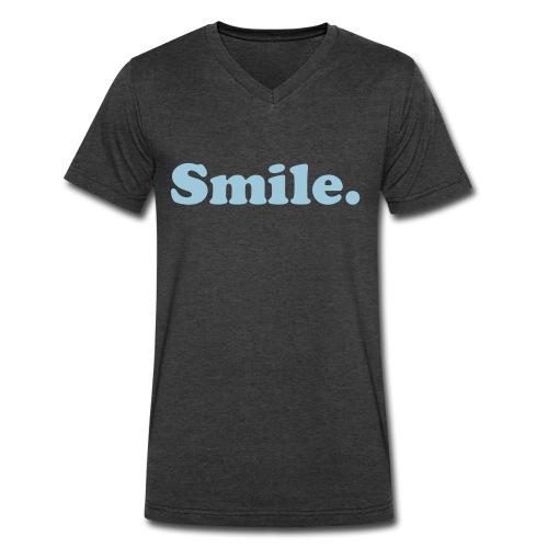 Smile T-shirt  - Men's V-Neck T-Shirt by Canvas