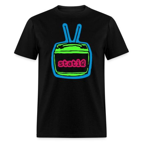 statiQ neon TV t-shirt - Men's T-Shirt