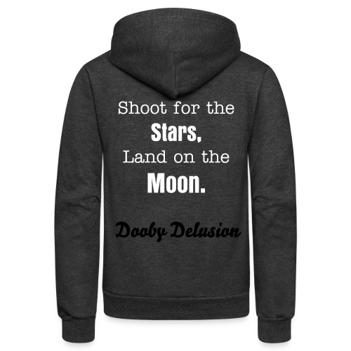 Shoot for the Stars, Land on the Moon Zip Hoodie - Unisex Fleece Zip Hoodie